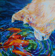 Koi Painting Posters - One Fish Two Fish Poster by Kimberly Santini