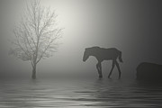 Horse Greeting Cards Digital Art - One is a Lonely Number by George Lenz