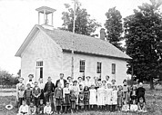 One Room Schoolhouse Prints - One Room Schoolhouse Print by Underwood Archives