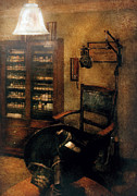 Vintage Lamp Photos - Optometrist - The  Optometrists Office by Mike Savad