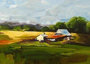 Wildlife Landscape Paintings - Oregon Landscape by Annie Salness