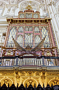 Religious Structure Prints - Organ in Cordoba Cathedral Print by Artur Bogacki