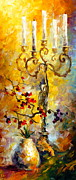 Candle Painting Originals - Oriental Dreams 1 by Leonid Afremov