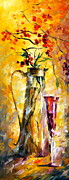 Wine Glass Paintings - Oriental Dreams 3 by Leonid Afremov