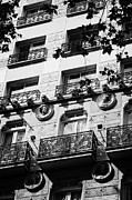 Ornate Art - Ornate Balconies And Modernista Design Of Hotel On 33 Las Ramblas La Rambla Dels Caputxins Barcelona by Joe Fox