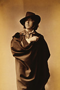 Portraiture Art Prints - Oscar Wilde Print by Napoleon Sarony