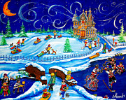 Hockey Players Paintings - Ottawa 67s Winter Wonderland by Jill Alexander