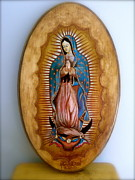Our Lady Of Guadalupe Painting Originals - Our Lady of Guadalupe by Fanny Diaz
