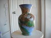 Country Glass Art Originals - Our Old Homeplace by Thomas Pittman