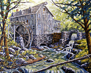 Click Galleries Paintings - Over Shot Mill by Richard T Pranke