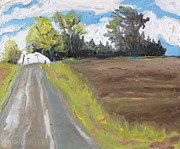 Gravel Painting Prints - Over The Gravel Road Print by Francois Fournier