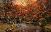 Blackstone River Prints - Over the River Print by Robin-lee Vieira