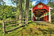 Covered Bridge Prints - Overgrown Print by Adam Jewell