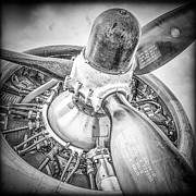 Airplane Engine Photos - P-17 Prop by Mike Burgquist