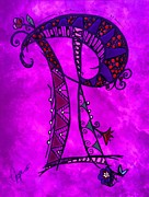 Fantasy Originals - P Monogram by Joyce Auteri