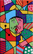 Hot Peppers Painting Originals - Pablos Peppers Pack a Punch by Tim Ross