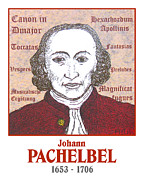 Canon Drawings - Pachelbel by Paul Helm