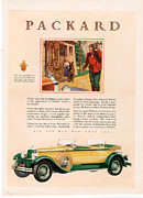 Nineteen-twenties Posters - Packard 1928 1920s Usa Cc Cars Poster by The Advertising Archives