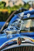 Vintage Hood Ornament Painting Prints - Packard 626 1929 badge Print by George Atsametakis