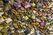 Editorial Framed Prints - Padlocks at Pont des Arts Framed Print by Chevy Fleet