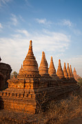 Bagan Photos - Pagodas in Bagan Myanmar by Fototrav Print
