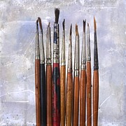 Paintbrush Photo Posters - Paintbrushes Poster by Bernard Jaubert