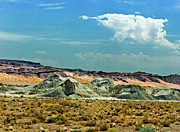 Point Park Mixed Media Posters - Painted Desert National Park Poster by Nadine and Bob Johnston