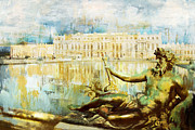Port Town Framed Prints - Palace and Park of Versailles Framed Print by Catf