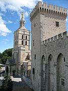 Provence Village Posters - Palace Of The Pope - Avignon Poster by Christiane Schulze