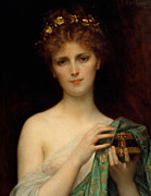 Bare Shoulder Framed Prints - Pandora Framed Print by Alexandre Cabanel
