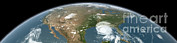 Terrestrial Sphere Posters - Panoramic View Of Planet Earth Poster by Stocktrek Images