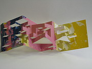 Screen Print Sculpture Prints - Paper Architecture Print by Alfred Ng