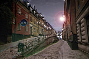 Stockholm Digital Art - Paper Route by David Fox