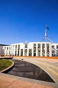 Politics Photo Framed Prints - Parliament House Canberra Australia Framed Print by Colin and Linda McKie