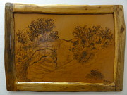 Signed Pyrography - Part of Nature by Jeler Anita