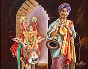 Tamilnadu Paintings - Partners in Alms by Ragunath Venkatraman