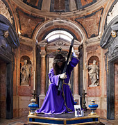 Purple Robe Art - Passion of Christ by Jose Elias - Sofia Pereira