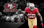 Patrick Framed Prints - Patrick Willis 49ers Framed Print by Joe Hamilton