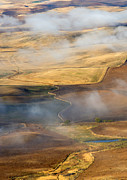 Palouse Prints - Patterns of the Land Print by Mike  Dawson