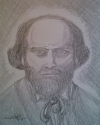 Paul Drawings - Paul Cezanne  by Salvatore Roma
