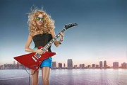 Pop Music Digital Art Framed Prints - Paulina Rubio Framed Print by Sanely Great