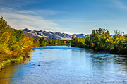 River Flooding Metal Prints - Peaceful Payette River Metal Print by Robert Bales