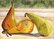 Angela Davies - Pears Ripening On The...