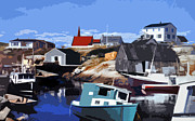 Cove Mixed Media - Peggys Cove by Lydia Holly