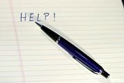 Pen Help Print by Henrik Lehnerer