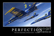 Airshow Flight Framed Prints - Perfection Inspirational Quote Framed Print by Stocktrek Images