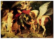 Perseus Liberating Andromeda Print by Peter Paul Rubens
