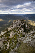 Ramparts Framed Prints - Peyrepertuse castle Framed Print by Ruben Vicente