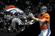 Denver Framed Prints - Peyton Manning Broncos Framed Print by Joe Hamilton