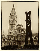 Philadelphia Photo Prints - Philadelphia Clothespin Print by Jack Paolini